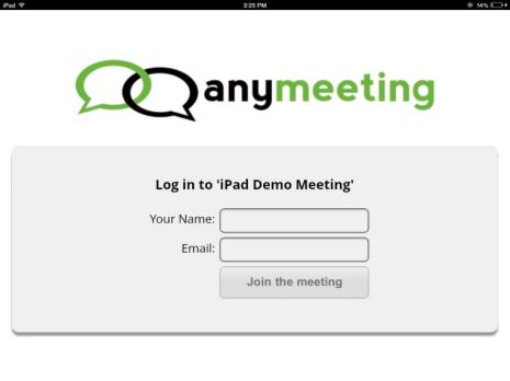 Inizia sessione dal tuo iPad